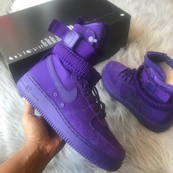 Nike Sf Air Force Court Purple Sneakers